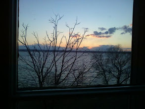Photo: The view outside our window at the EB Morgan House in Aurora at sunset