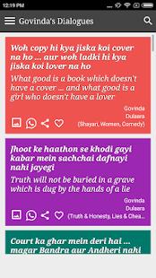 Govinda Funny Filmy Dialogues - náhled