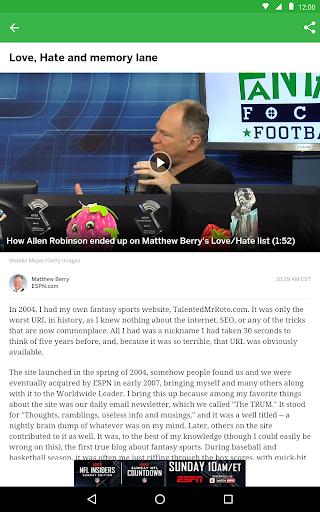 ESPN Fantasy Sports screenshot 10
