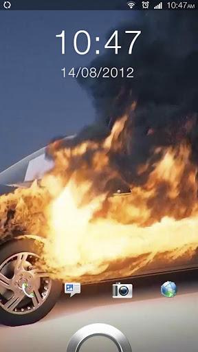 Burning Car 3D Live Wallpaper