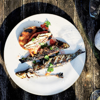 Sardines with Grilled Bread and Tomato Recipe