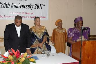 Photo: Opening Prayer at Dinner by Amsale Maryam, ADA Jamaica