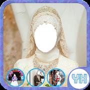 Bridal Hijab Style Modern Photo Suit