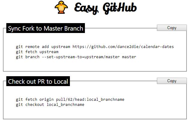 Easy GitHub