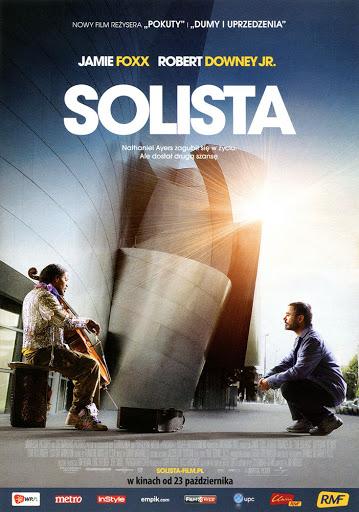 Przód ulotki filmu 'Solista'