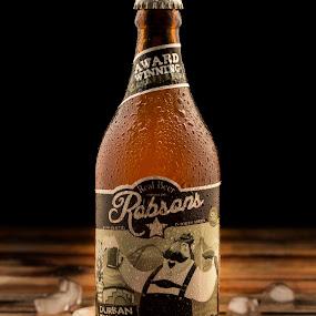 Robsons by Michal Challa Viljoen - Food & Drink Alcohol & Drinks ( product, studio, beer, cold, wood, ice, brown,  )