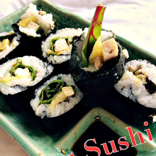 Homemade Vegetarian Sushi.