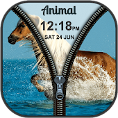 Wild Animal Zipper Lock Screen
