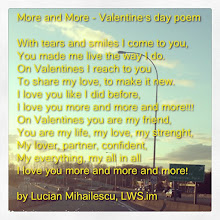 Photo: More and more - A Valentine's day poem #intercer #love #life #wife #girlfriend #valentine #valentines #valentinesday #valentinesday2013 #kiss #bff #husband #spouse #rose #flowers #surprise #friend #beautiful #beauty #woman #women #girl #man - via Instagram, http://instagr.am/p/VuVX64pfiN/