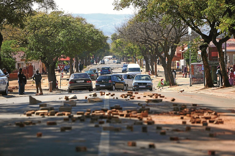 Residents of Atteridgeville protest against the ANC's announcement that Thoko Didiza is its mayoral candidate for Tshwane in the upcoming local government elections to be held on August 3. Picture: THE TIMES/SIZWE NDINGANE