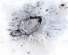 """Photo: Le cratère Aristoteles, le 26 novembre 2010 entre 3h et 6h TU. Température bien basse et belles images dans le T406 à 350X et 450X en bino. Egalement gros travail """"de bureau"""" sur les valeurs de gris pour faire ressortir les reliefs."""