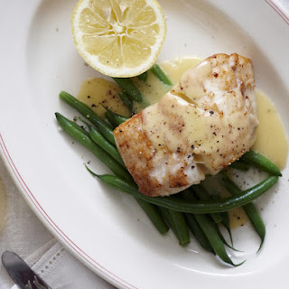 Seared Fish with Lemon Beurre Blanc.