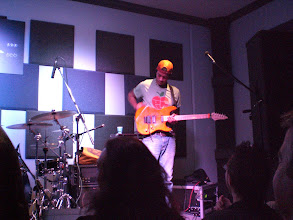Photo: Greg Howe's band takes the stage