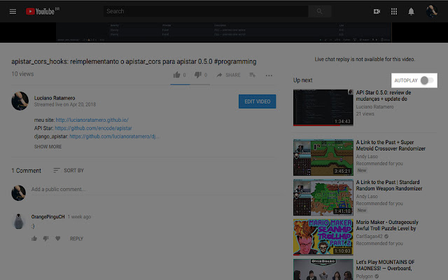 YouTube Autoplay Disabler