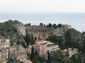 Photo: Taormina's Graeco-Roman theatre seen from above town