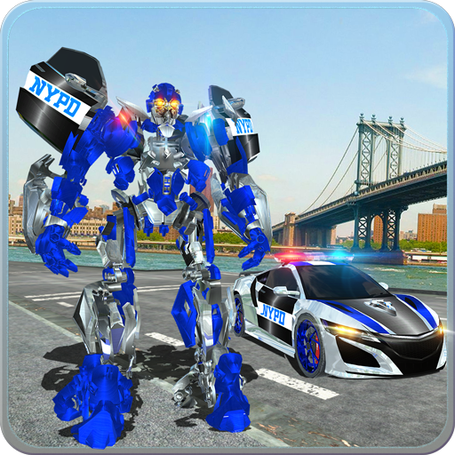 US Police Car Real Robot Transform: Robot Car Game 12 APK MOD
