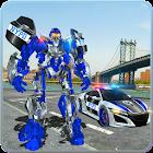 Coche de la policía Convierte Robot Car Cop Juego icon