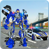 US Police Car Real Robot Transform: Robot Car Game