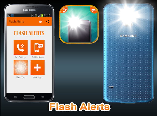 android Flash Alerts on Call and SMS Screenshot 0