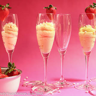White Chocolate Champagne Mousse.