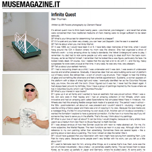 Blair Thurman, Musemagazine
