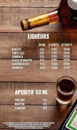 Lord of the Drinks Meadow menu 3