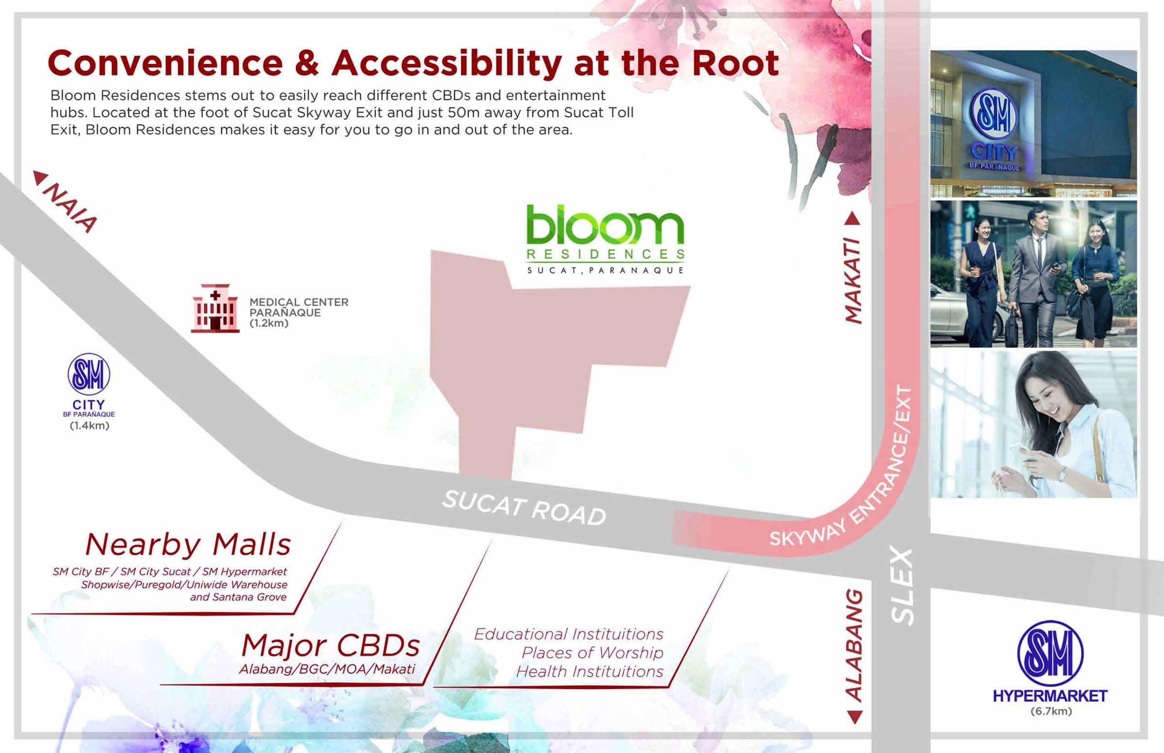 Bloom Residences, Sucat, Paranaque City location map