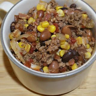 Easy Crock Pot Beef Chili.