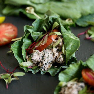 Vegan Tuna Salad in Collard Green Wraps