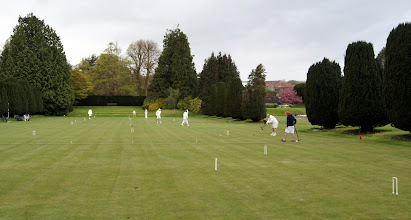 Photo: Croquet on the front lawn, as ever