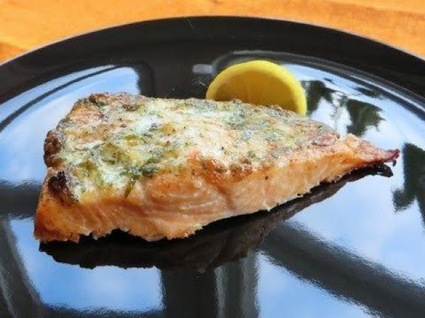 Baked Salmon With Tarragon Chive Cream Sauce Recipe
