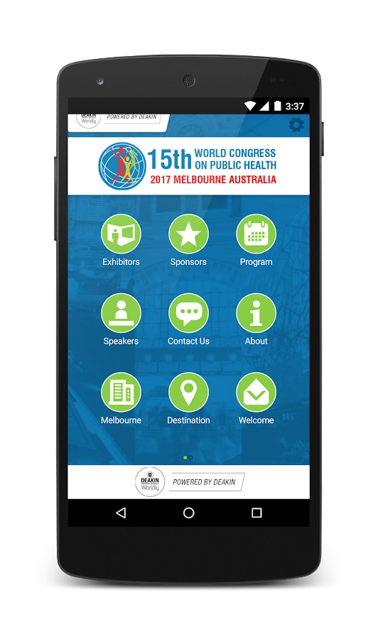 World Congress Public Health- screenshot