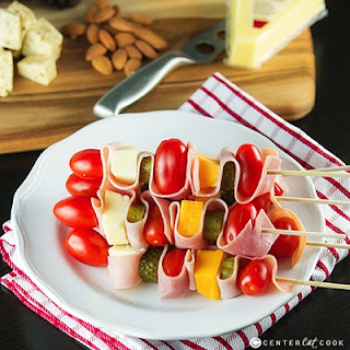 Cheddar and Ham Skewers.