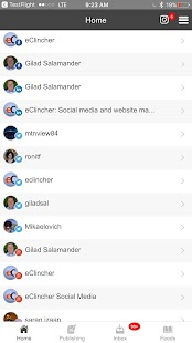 eClincher: Social Media Management, Marketing - náhled