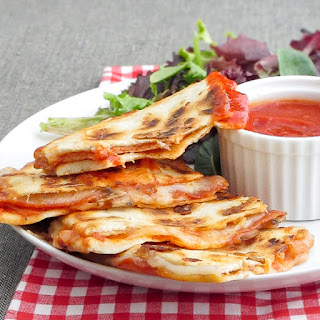 Pepperoni Pizza Quesadillas.