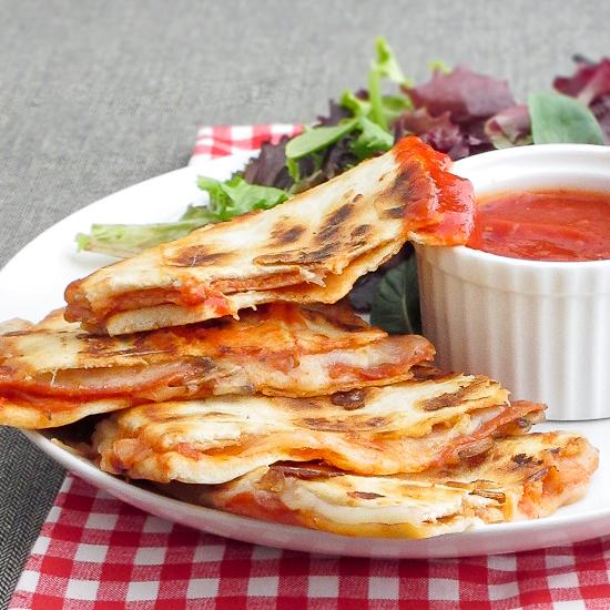 Pepperoni Pizza Quesadillas Recipe