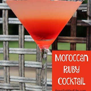 Moroccan Ruby Cocktail.