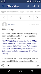 Ziggo Users Forum- screenshot thumbnail