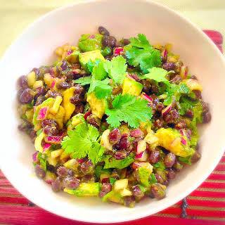 Black Bean Salad with Papaya Sauce.