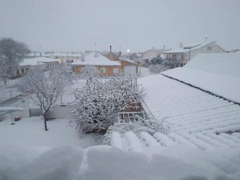 Bellísima imagen de Vélez Rubio nevado. Foto de Carmen Méndez.