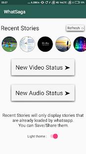 WhatSaga | Longer WhatsApp Stories | Save Status - náhled