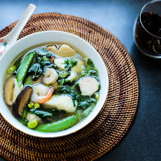 Fish, Prawn and Vegetable Soup.