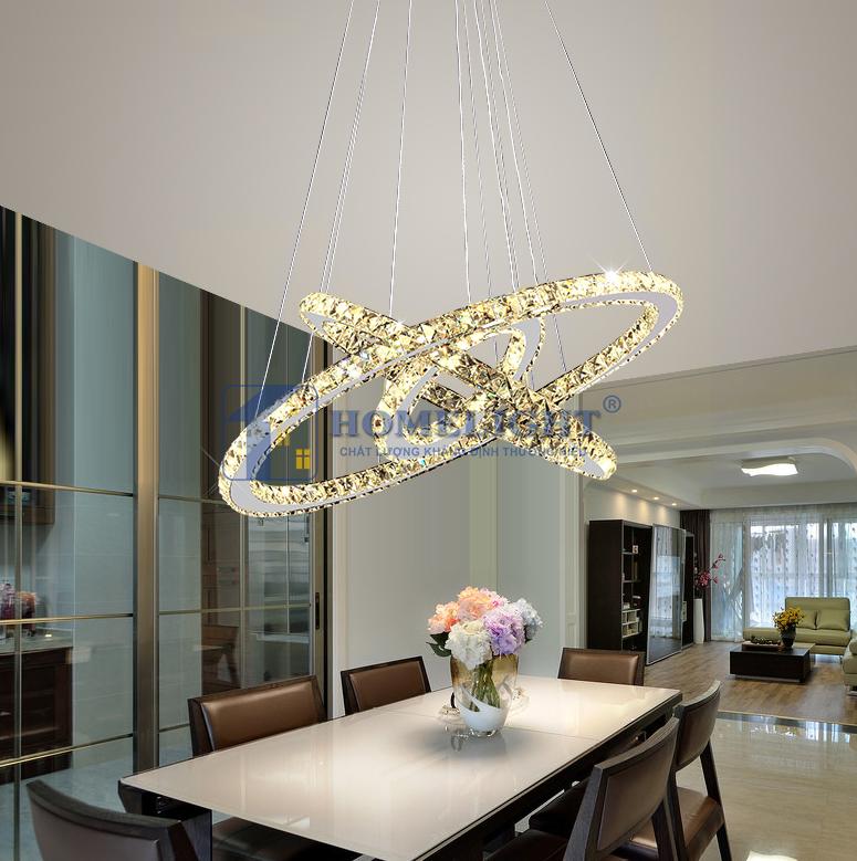 Đèn thả pha lê hiện đại trang trí phòng khách đẹp giá rẻ tại Hà Nội