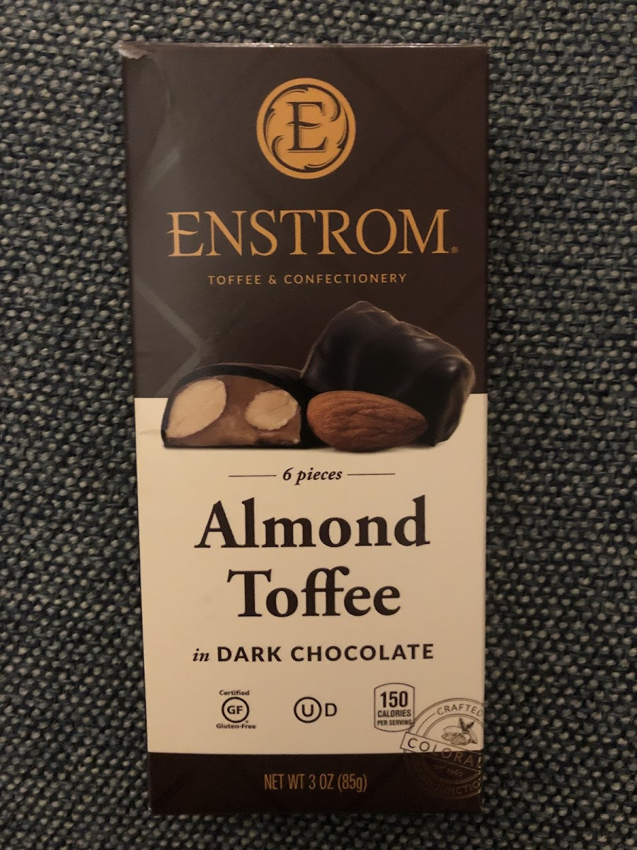 Almond Toffee In Dark Chocolate