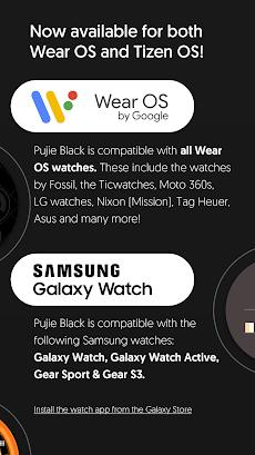 Watch Face - Pujie Black - Wear OS & Galaxy Watchのおすすめ画像5