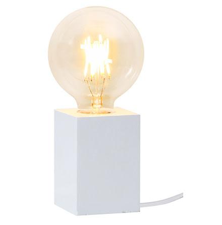 LYS Lampfot i trä E27 Vit