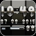 Digi Clock Black Silver widget icon