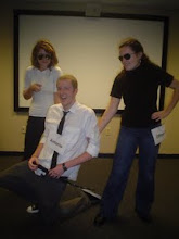 Photo: Performing Shakespeare's Twelfth Night in class, Fall 2009