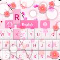 Pink Flowers GO Keyboard