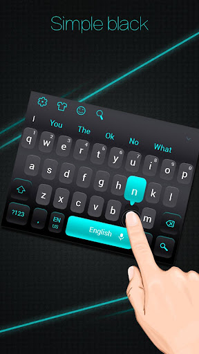 Simple Black Keyboard screenshots 1